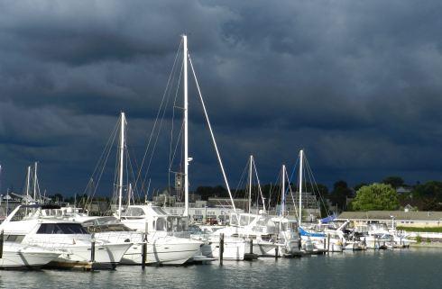 sailboats in port washington